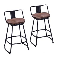 HAOBO Home Bar Stools Industrial Metal bar Stools Counter Height Stools for Indoor/Outdoor Dinin ...