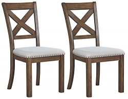 Signature Design by Ashley D631-01 Moriville Dining Room Chair, Grayish Brown, Set of 2