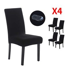 YIMEIS Waterproof Comfort Dining Chair Slipcovers, Stretch Water Repellent Dining Chair Protecto ...