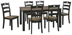 Signature Design by Ashley D338-425 Froshburg Dining Room Table and Chairs (Set of 7), Grayish B ...