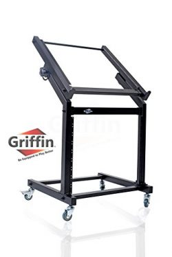 Rack Mount Rolling Stand and Adjustable Top Mixer Platform Mount 19U by Griffin|Cart Holder for  ...
