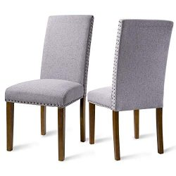 Dining Chairs Dining Room Chairs – Kitchen Chairs Solid Wood Tufted Parsons Dining Chair S ...