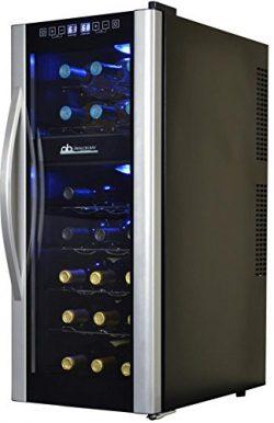Avalon Bay AB-Wine21DS Wine Cooler, 21 Bottle, Black/Stainless Steel
