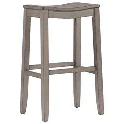 Hillsdale Furniture 4583-831 Fiddler Backless Saddle Bar Stool, Aged Gray
