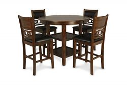 New Classic Gia Counter 5 Piece Dining Set, Brown