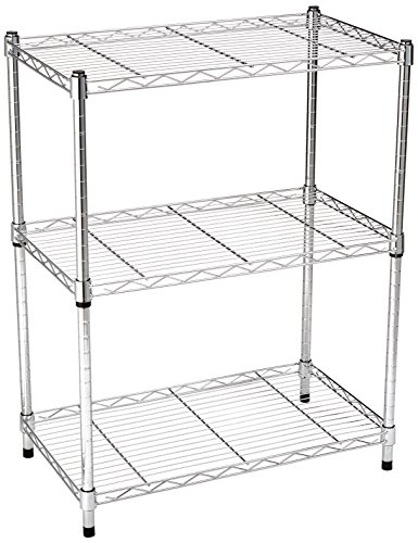 e8bddcc275c4 AmazonBasics 3-Shelf Shelving Storage Unit, Metal Organizer Wire ...