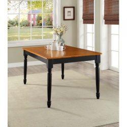 Better Homes Gardens Autumn Lane Farmhouse Dining Table | Black Oak- Easy to Assemble