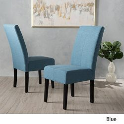 Christopher Knight Home 299435 Pertica Fabric Dining Chair (Set of 2), Blue