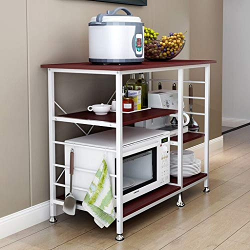 "Sodoop Kitchen Rack, Utility Storage Shelf 35.5"" Microwave Cart Stand 3-Tier+3-Tier for Sp ..."