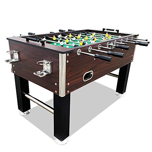 T&R sports 60″ Soccer Foosball Table Heavy Duty for Pub Game Room with Drink Holders,  ...