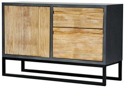 Heather Ann Creations The Nova Collection Modern Style Wooden 2 Drawer 1 Door Entry Way Dining R ...