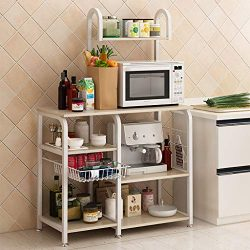 Multipurpose Kitchen Shelf, WensLTD Kitchen Baker's Rack Utility Storage Shelf 35.4″ ...