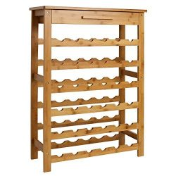 Kinsuite Bamboo Wine Rack Modular Wine Storage Holder Display Shelves for Storing Bottles at Hom ...