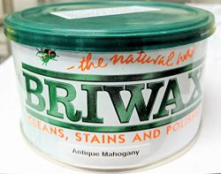 Briwax (Antique Mahogany) Furniture Wax Polish, Cleans, stains, and polishes.