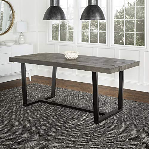 WE Furniture AZW72DSWGY Dining Table 72″ Grey