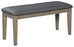 Signature Design by Ashley D617-00 Aldwin Dining Room Bench, Dark Gray