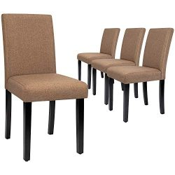 Furmax Dining Chairs Urban Style Fabric Parson Chair Kitchen Livng Room Armless Side Chair with  ...