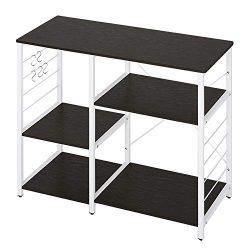WLIVE Kitchen Baker's Rack, 3-Tier Utility Storage Shelf, Microwave Oven Stand, Storage Ca ...