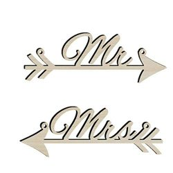 Muranba 2019 ! Wooden Rustic Bridal Table Sign.Mr&Mrs Personalised Wedding Party Chair Decor