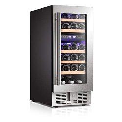 Antarctic Star Wine Cooler Refrigerator Fridge 28 Bottles Dual Zone Wine Cellar Built-in Freesta ...