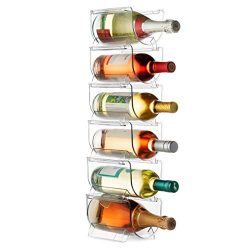 Set Of 6 Wine and Bottle Storage Holder Rack, Stackable Plastic Wine Rack Organizer for Pantry,  ...