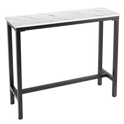 Mr IRONSTONE 47″ Pub Dining Table, Bar Height Table with Faux Marble Top (Indoor USE ONLY)