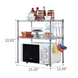 SINGAYE 2 Tier Adjustable Oven Microwave Rack Baker's Rack Kitchen Storage Rack Kitchen Sh ...