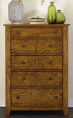 Liberty Furniture 175-BR41 Grandpa's Cabin 5-Drawer Chest, 38″ x 18″ x 53&#824 ...
