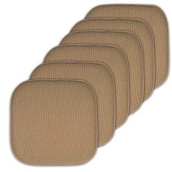 Sweet Home Collection Cushion Memory Foam Chair Pads Honeycomb Nonslip Back Seat Cover 16″ ...