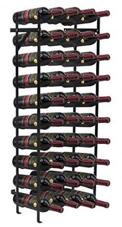 Sorbus Wine Rack Stand – Holds 40 Bottles of Your Favorite Wine – Large Capacity Ele ...