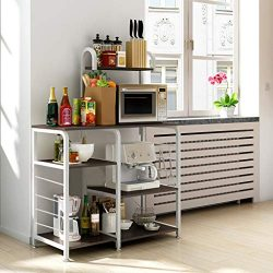 Beyonds Kitchen Baker's Rack Utility Microwave Oven Stand Storage Cart Workstation Shelf w ...
