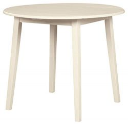 Signature Design by Ashley D318-15 Slannery Dining Room Table, White
