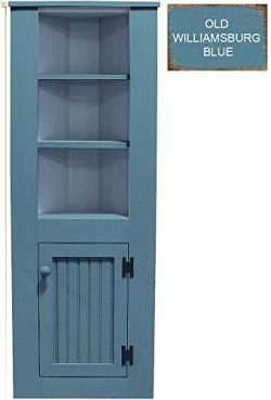 Sawdust City Small Wooden Corner Hutch (Old Williamsburg Blue)