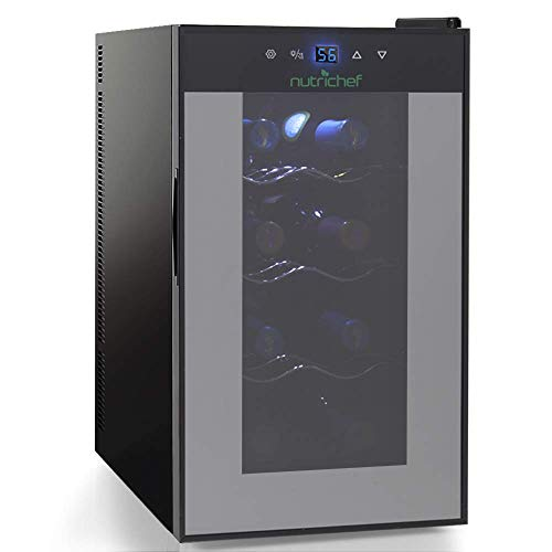 Nutrichef 8 Bottle Thermoelectric Wine Cooler Refrigerator | Red, White, Champagne Chiller | Cou ...