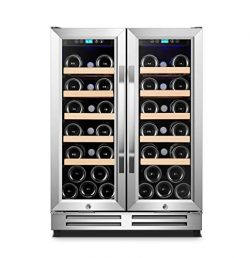 Karcassin Wine Cooler Refrigerator – Compressor Wine Chiller – Dual Temp Zones wine  ...