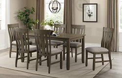 Lane Home Furnishings 5046-54 7-Pc. Dining Set (Table & 6 Chairs), 7 Piece, Brown