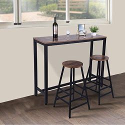 ☀ Dergo ☀Pub Table, Household Pub Table Counter Height Dining Table For Kitchen Nook Dining Room