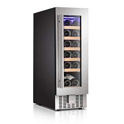 Antarctic Star Wine Cooler Refrigerator Fridge 18 Bottles 12″ Single Zone Wine Cellar Buil ...