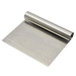 Bench Scraper Chopper Stainless Steel Kitchen Food Scraper Icing Smoother Blade with Measuring S ...