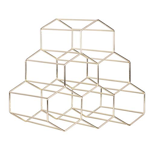 1PC 6 Bottles Metal Wine Rack Countertop Free-Stand Wine Storage Holder Space Saver, Shipped fro ...