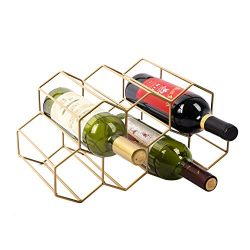 Urban Deco Wine Rack Freestanding Wine Racks Cabinets Bottle Holder Countertop Storage Metal Bru ...