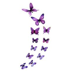 Youmymine Art Wall Stickers Luminous Butterfly Design Decal Living Room Magnetic Home Decor 12pc ...