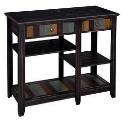 VASAGLE Kitchen Baker's Rack, Microwave Stand with Colorful Storage Shelf, Microwave Oven  ...
