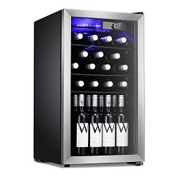 Antarctic Star Wine Cooler Beverage Refrigerator 26 Bottles Beer Wine Cellar Fridge Freestanding ...