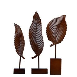XiYunHan New Chinese Zen Leaf Decoration Resin Crafts Creative Living Room Entrance Decoration M ...
