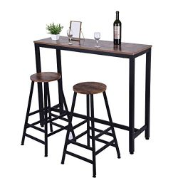 US Fast Shipment Quaanti Pub Bar Table,Counter Height Dining Table,Dining High Top Table,Industr ...