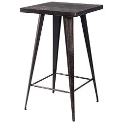 ALI VIRGO Bar Table Pub Desk, Vintage Bistro Metal Rectangular Height 40 Inch High, No Include C ...