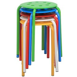 Yaheetech 17.3in Plastic Stack Stools Portable Stackable Bar Stools School Classroom Stools Chai ...