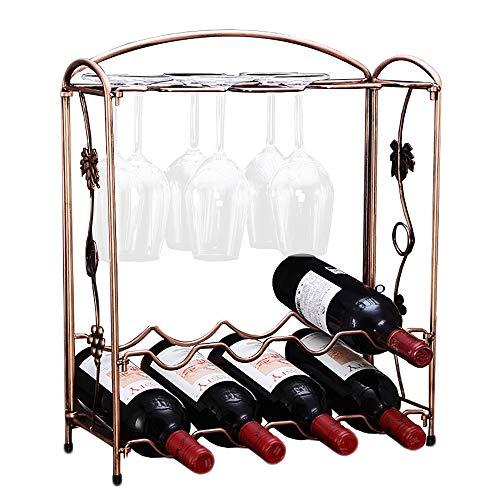 PENGKE 2 Tier Stackable Wine Rack,Countertop Cabinet Wine Holder Storage Stand Hold 8 Bottles an ...