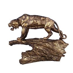 XiYunHan Resin Crafts Series Decoration Creative Antique Copper Tiger High Grade Case Bracket Cr ...